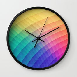 Spectrum Bomb! Fruity Fresh (HDR Rainbow Colorful Experimental Pattern) Wall Clock
