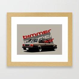 BMW E21 Ilustration  Framed Art Print