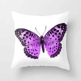 Luxurious Lilac-Pink Butterfly Throw Pillow