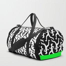 Running Girl B&W Pattern Duffle Bag