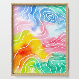 Colored Contours Serving Tray
