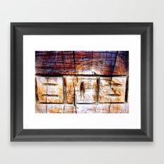 Wood Engraving Framed Art Print