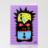 pixies Stationery Cards featuring Everyday I wisthle thanks to the wisthle pixies by Dom Barra