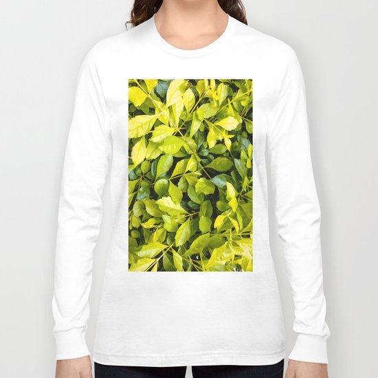 Too much green leaves Long Sleeve T-shirt