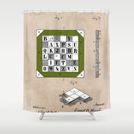 patent Kinsey Puzzle Blocks 1878 Shower Curtain