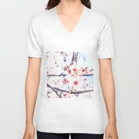 blossom V-neck T-shirts featuring blossom by Julia Kovtunyak