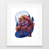 werewolf Framed Art Prints featuring Werewolf by Frankie Green