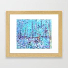 Van Gogh Trees & Underwood Aqua Lavender Framed Art Print