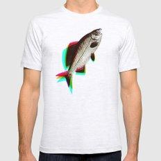 fish + fish + fish Ash Grey Mens Fitted Tee SMALL