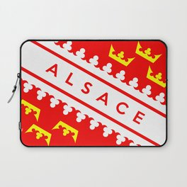 alsace province france country flag name text region Laptop Sleeve