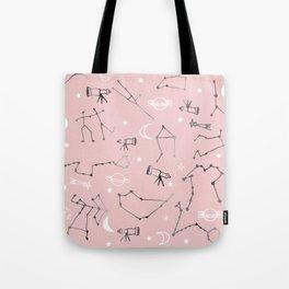 Astrology Pattern Pink #homedecor Tote Bag