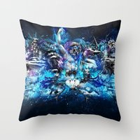 mythology Throw Pillows featuring Mythology by theycallmeteddy