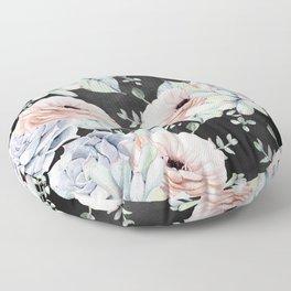 Night Succulents Floor Pillow