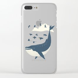 Fly in the sea Clear iPhone Case