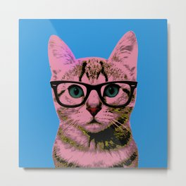 Warhol Cat 1 Metal Print