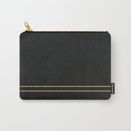 Black Velvet with Gold Lines Carry-All Pouch