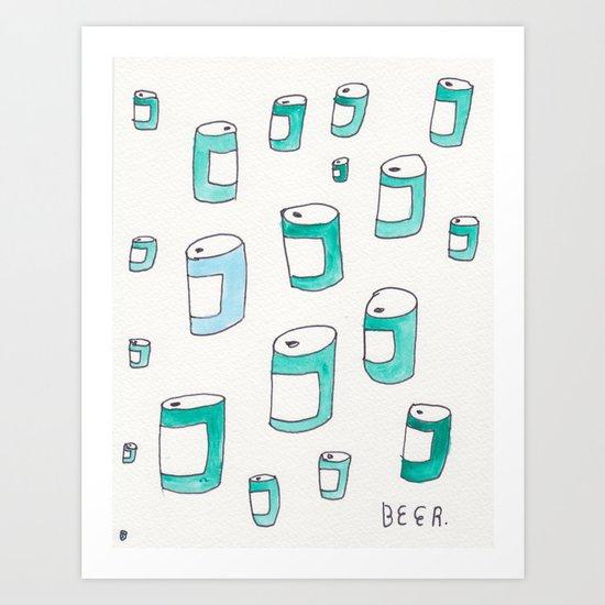 BEERS! Art Print