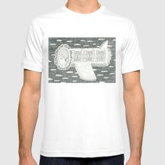 Plane is Home Mens Fitted Tee White MEDIUM