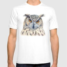 Eage Owl CC1404 White Mens Fitted Tee MEDIUM