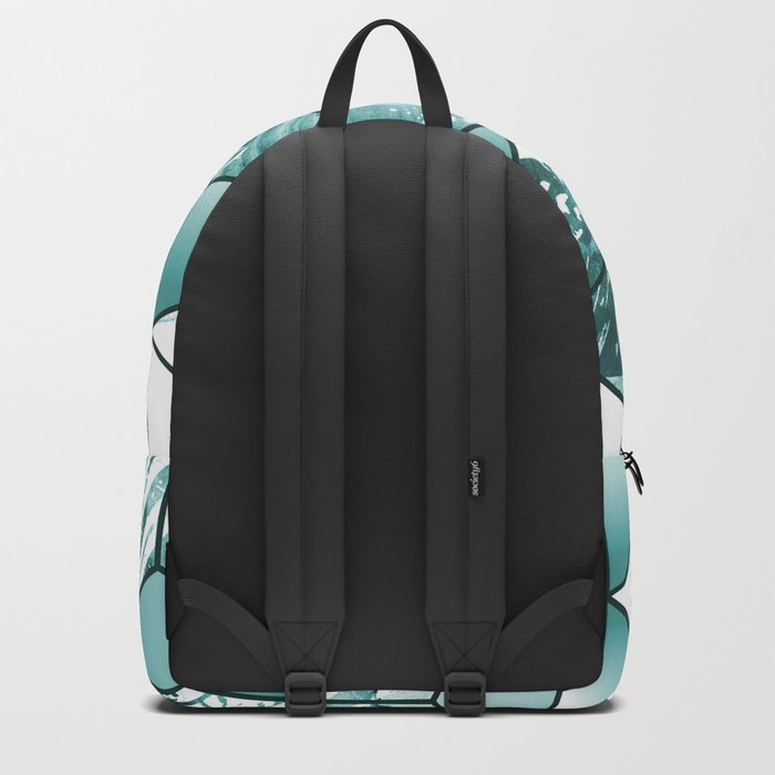 Tropical Cubic Effect Palm Leaves Design Backpack