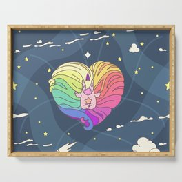 """Vector pattern series of """"Unicorns time"""". Art for kids. Serving Tray"""