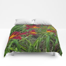 Tiger Lily Garden Comforters