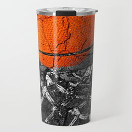 Basketball Art, Sports Artwork Travel Mug