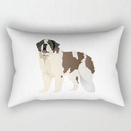 Saint Bernard Dog Rectangular Pillow