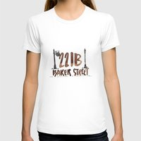 221b T-shirts featuring 221B Baker Street by AliceInWonderbookland