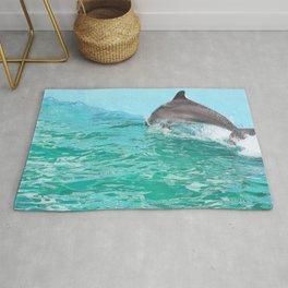 Speedy dolphin Rug