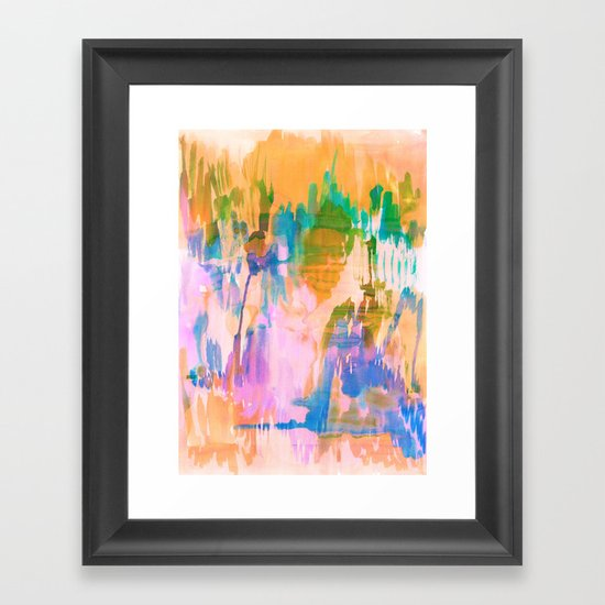 Tropical Sunset Framed Art Print