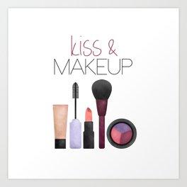 Kiss & Makeup Art Print
