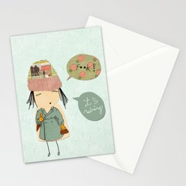 """I like London in the rain"" Stationery Cards"
