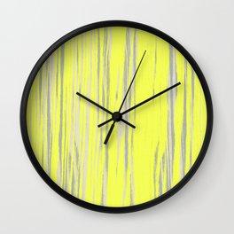Wood Abstractions v.1 Wall Clock