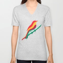 Melting bird Unisex V-Neck