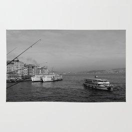 Bosphorus view from Galata Bridge Rug