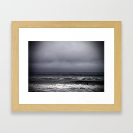 gray on gray Framed Art Print