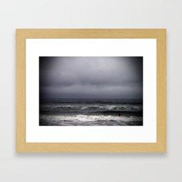 gray on gray Framed Art Print