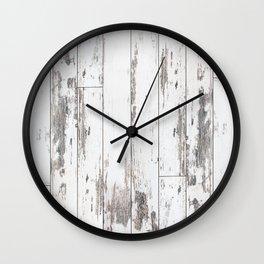 White Wood Wall Clock