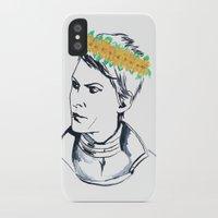 cassandra jean iPhone & iPod Cases featuring Cassandra Flower Crown by Eileen Bahar