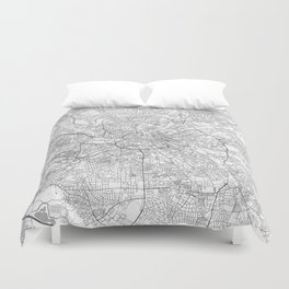 Manchester Map Line Duvet Cover