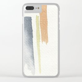 tri-color Clear iPhone Case