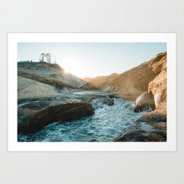 Sunrise on the Oregon Coast Art Print