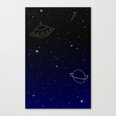 Space Trip to Saturn Canvas Print