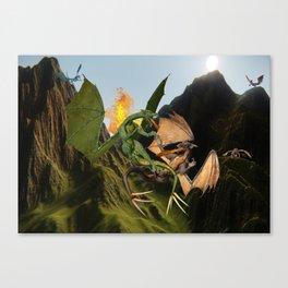 Battle for Dragon Mountain Canvas Print