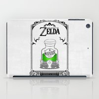 legend of zelda iPad Cases featuring Zelda legend - Green potion  by Art & Be