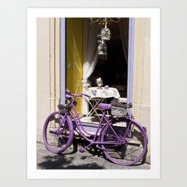 Lavender Bicycle Art Print