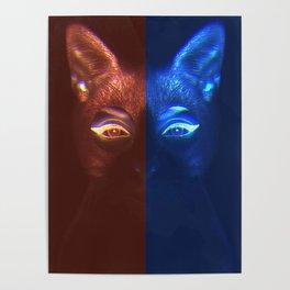 Neon Cat Poster
