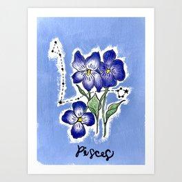 February Pisces Art Print