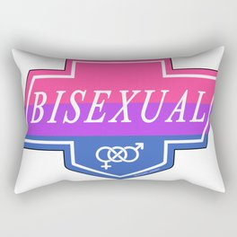 Identity Stamp: Bisexual Rectangular Pillow